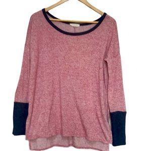 Entro oversized colour block long sleeve shirt S